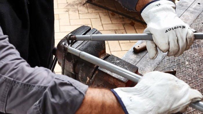Как завязать арматуру в узел без нагрева