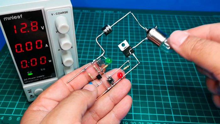 Мощный ключ без реле с автоматическим отключением