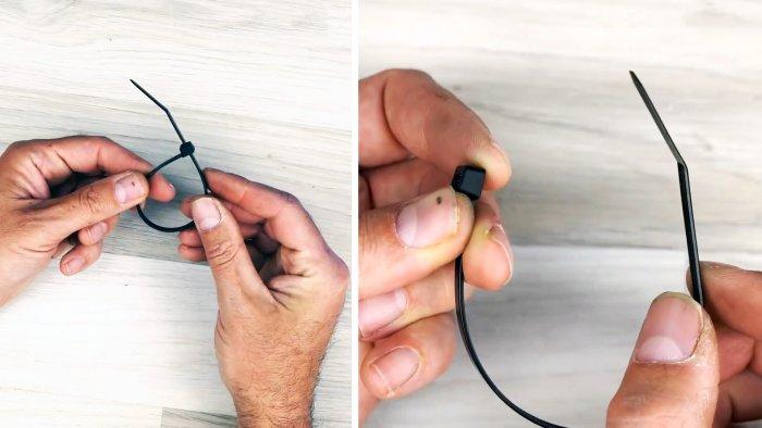 Как расстегнуть нейлоновую стяжку
