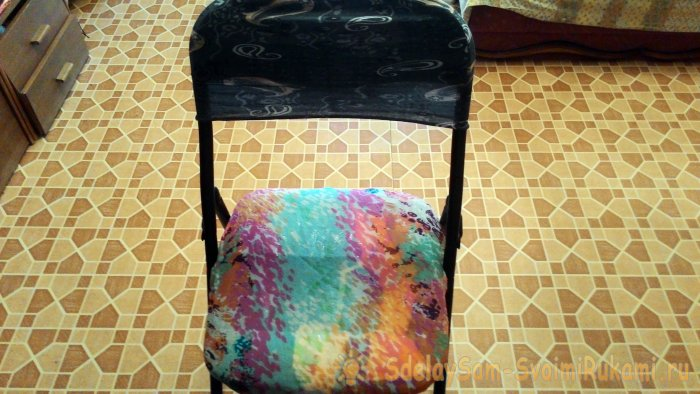 Лайфхак как почти мгновенно задекорировать старый облезлый стул для дачи