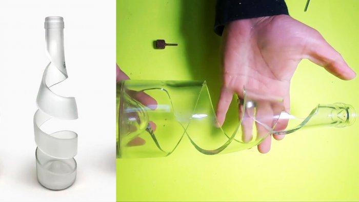 Как разрезать стеклянную бутылку по спирали