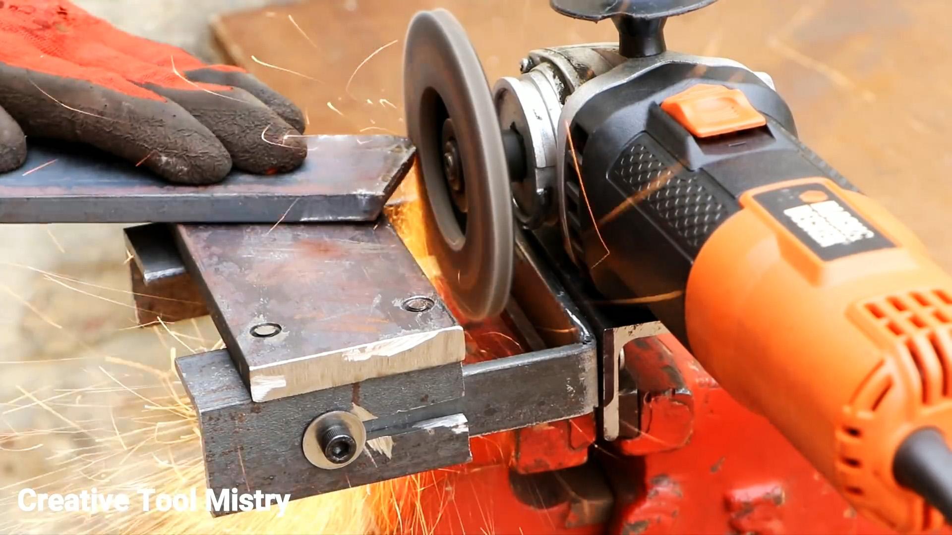 Как сделать приставку точило для болгарки из металлолома