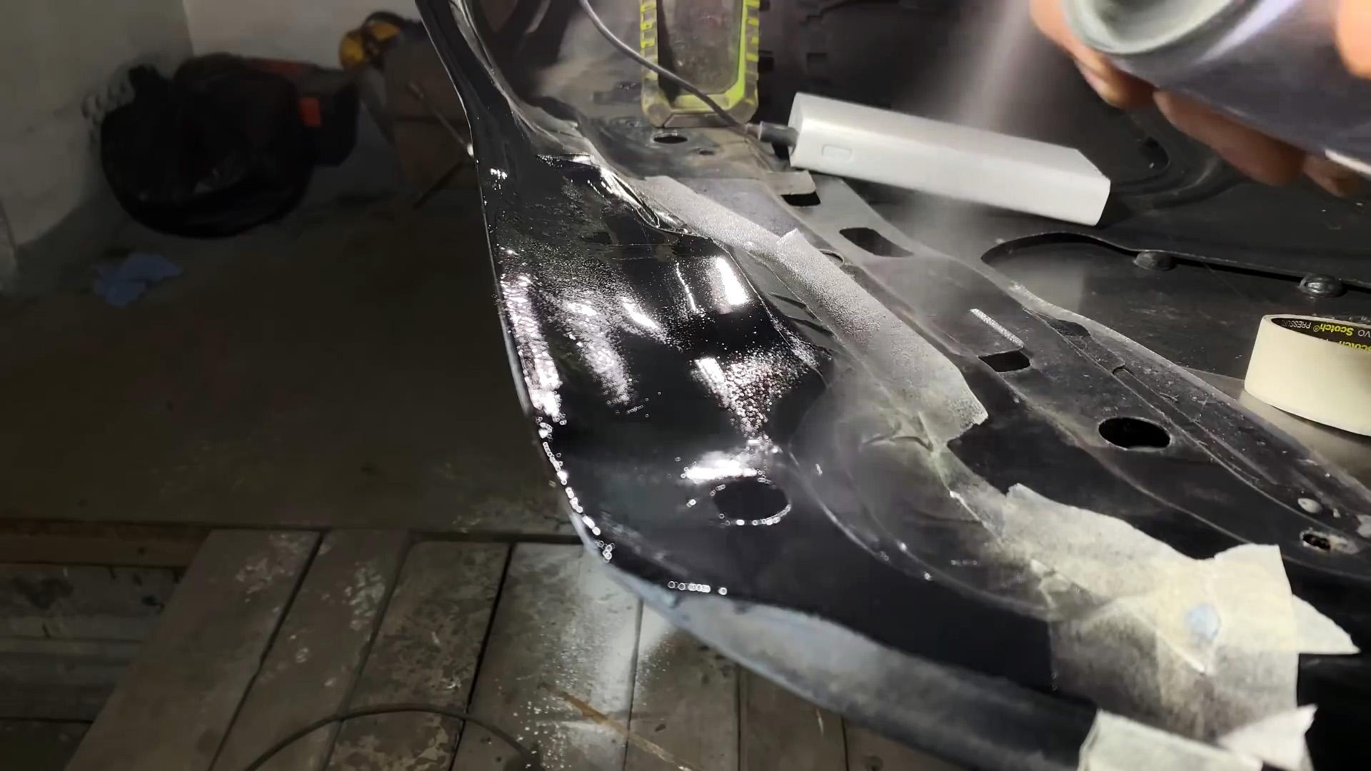 Как отремонтировать сквозную коррозию машины без сварки и краскопульта
