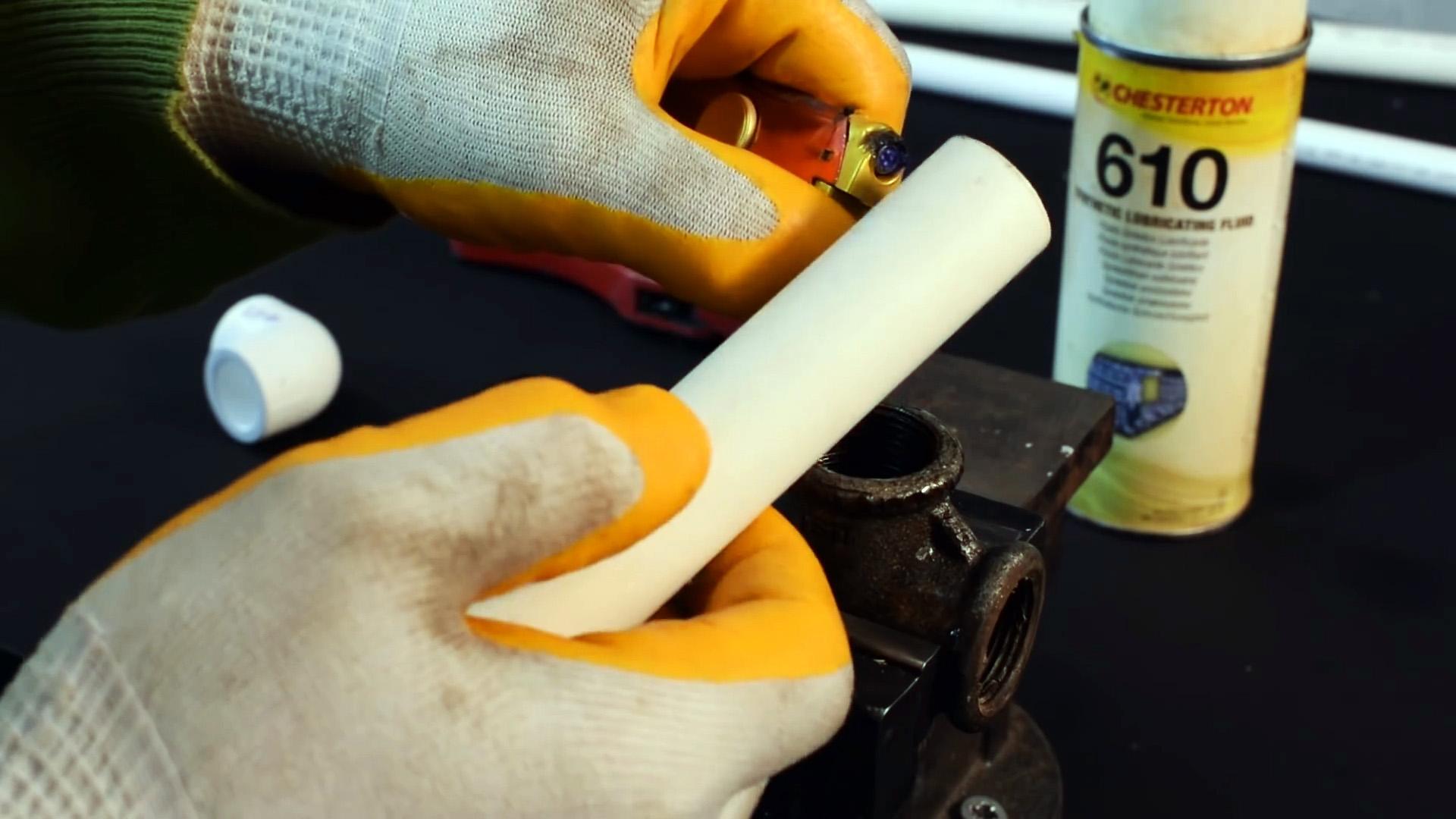 Как сделать резьбовое разборное соединение пластиковых труб без пайки