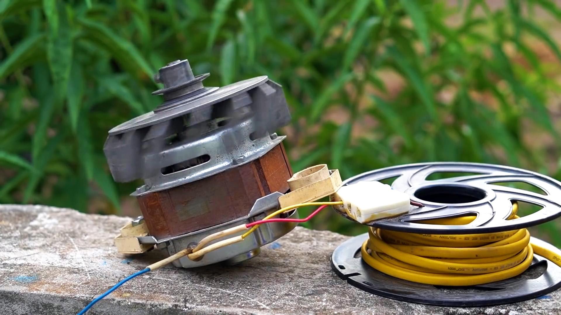 Как сделать генератор 220В из мотора стиралки и двигателя мотокосы