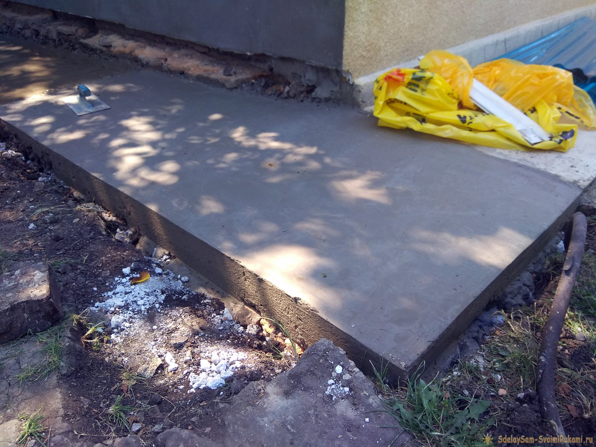 Отмостка из бетона вокруг дома своими руками