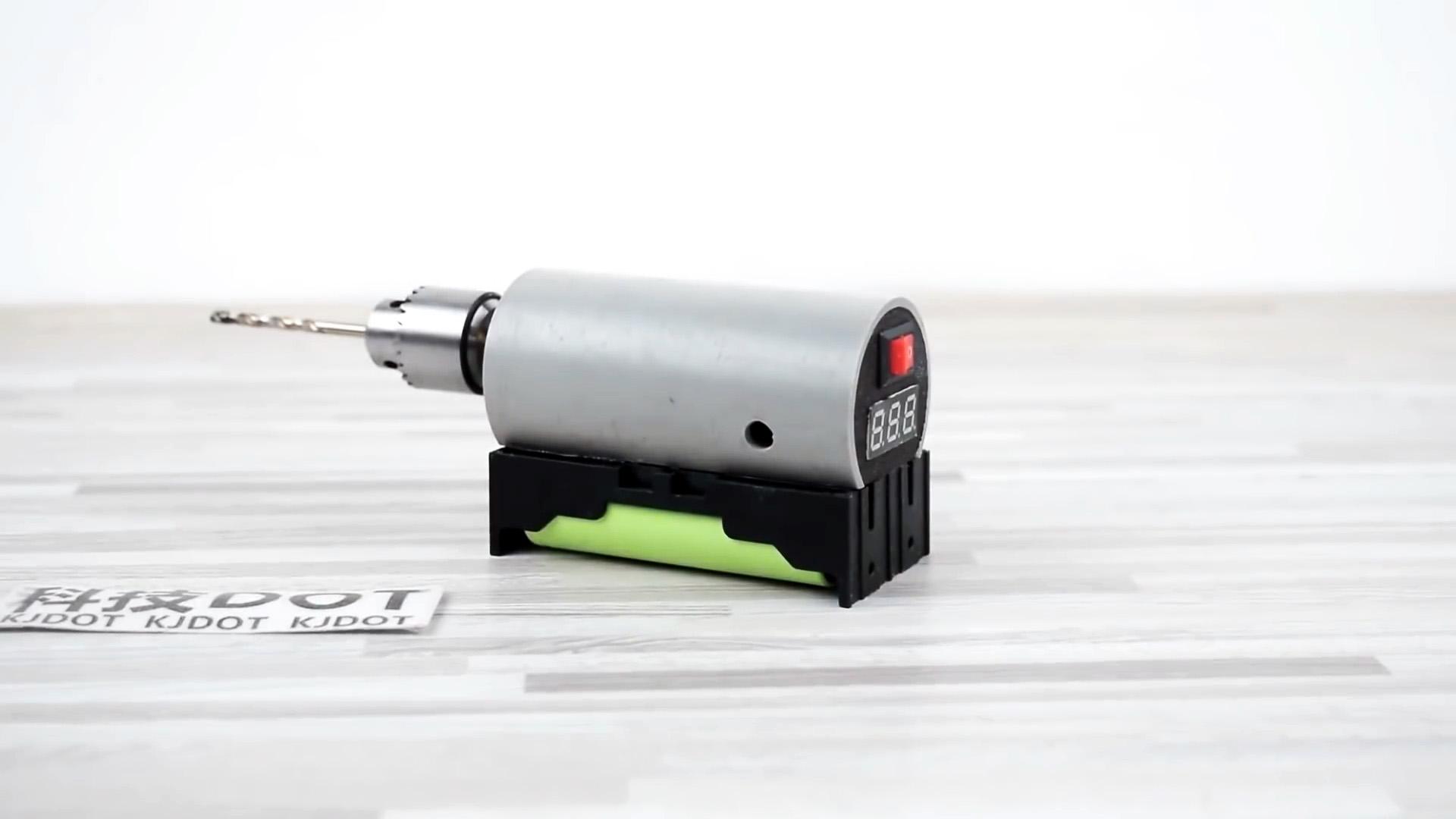 Мощная аккумуляторная бормашинка из ПВХ трубы своими руками