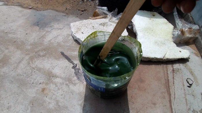 Как сделать дешевую водостойкую и износостойкую краску для бетона кирпича или дерева