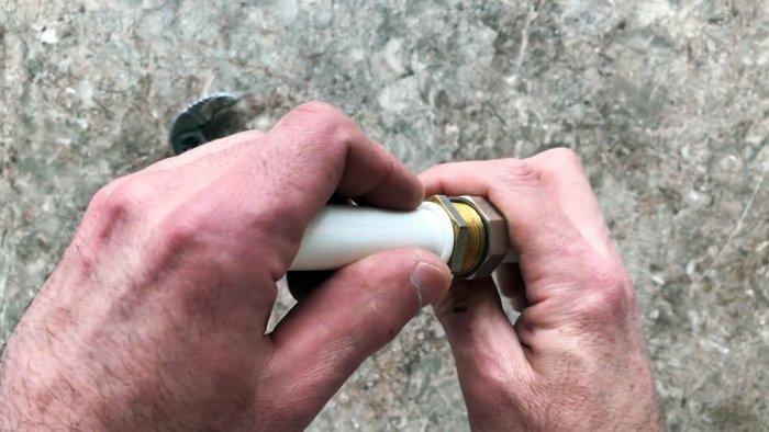 Как просто самому изготовить соединение Американка из обрезков ПП труб