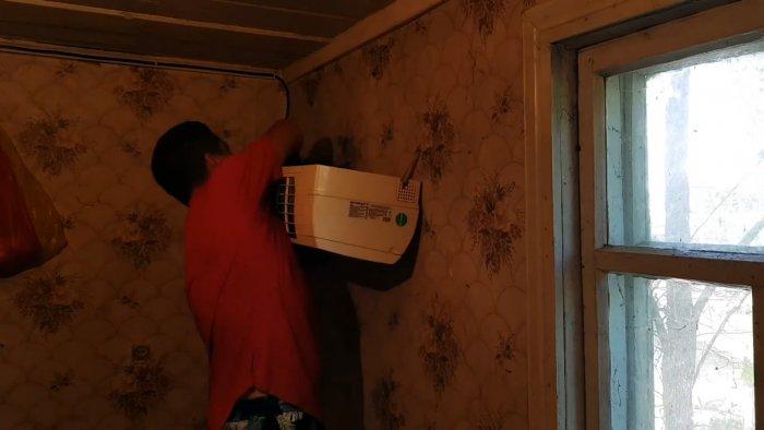 Как в своем доме сделать почти бесплатный кондиционер с минимальным энергопотреблением