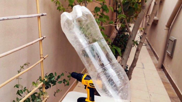 Как сделать простейший сборщик фруктов с высоких веток из ПЭТ бутылки