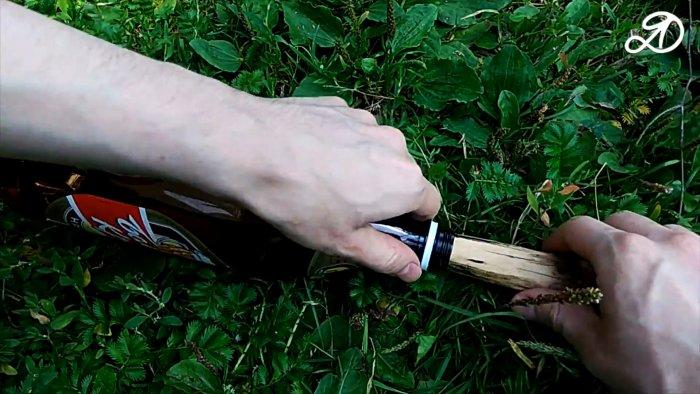 Приспособление для сбора вишни из бутылки своими руками за 5 мин