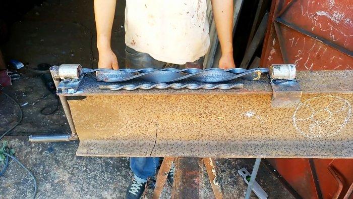 Как сделать приспособление для скручивания полосы в спираль без нагрева