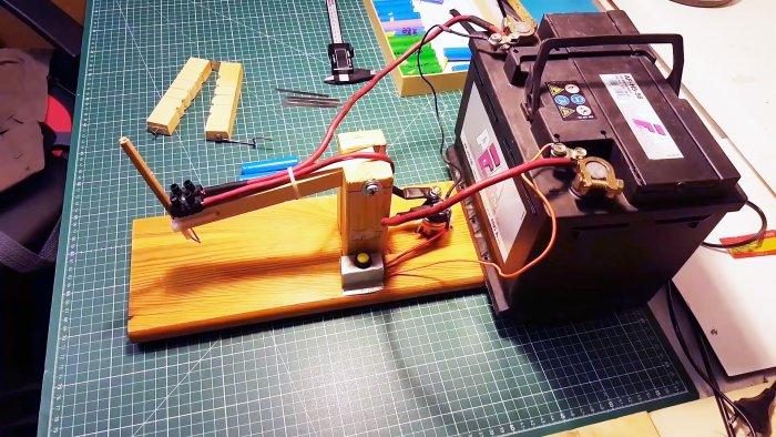 Как сделать аппарат для контактной сварки из автомобильного аккумулятора
