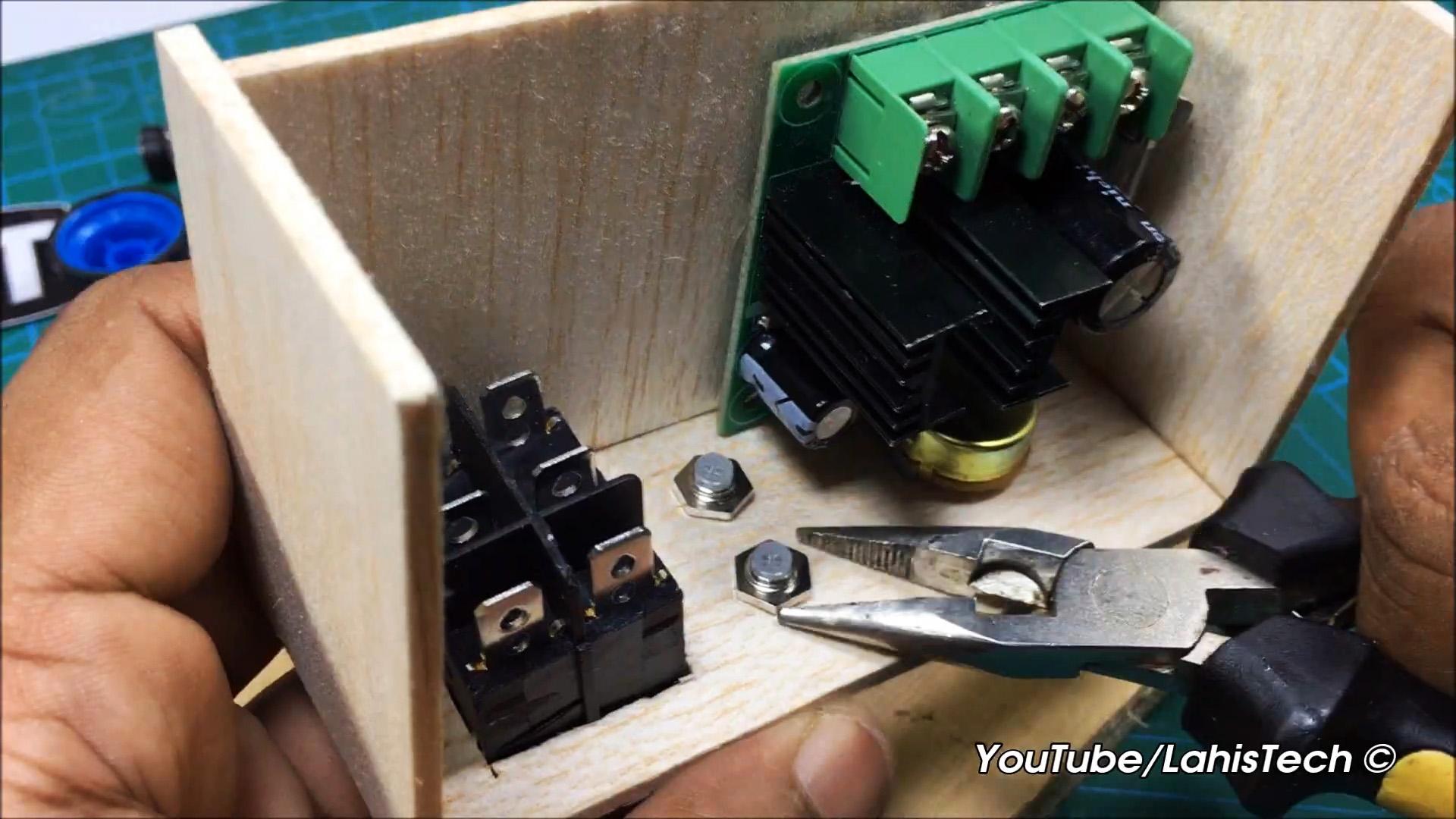 Как сделать регулятор скорости двигателя постоянного тока 40В 10А с реверсом на базе китайского модуля