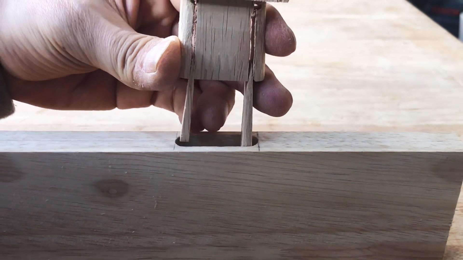 Как сделать неразборное столярное соединение шип-паз