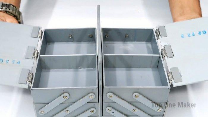 Как сделать раскладной ящик для инструментов из ПВХ трубы