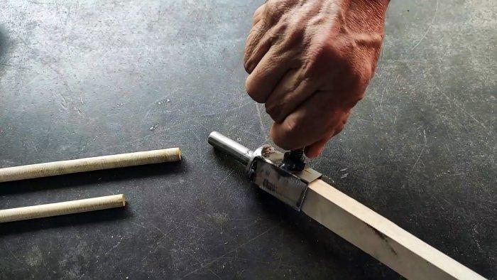 Как изготовить круглые палочки простая оснастка своими руками