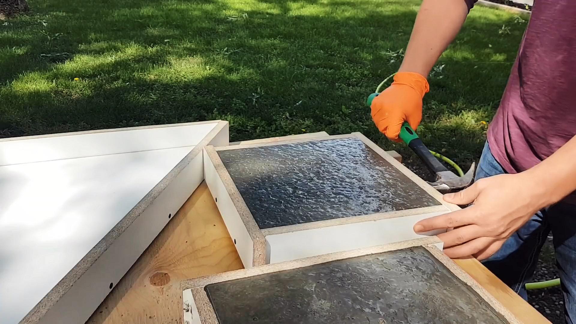 Как сделать форму и изготовить бетонную крупноформатную плитку быстро и качественно