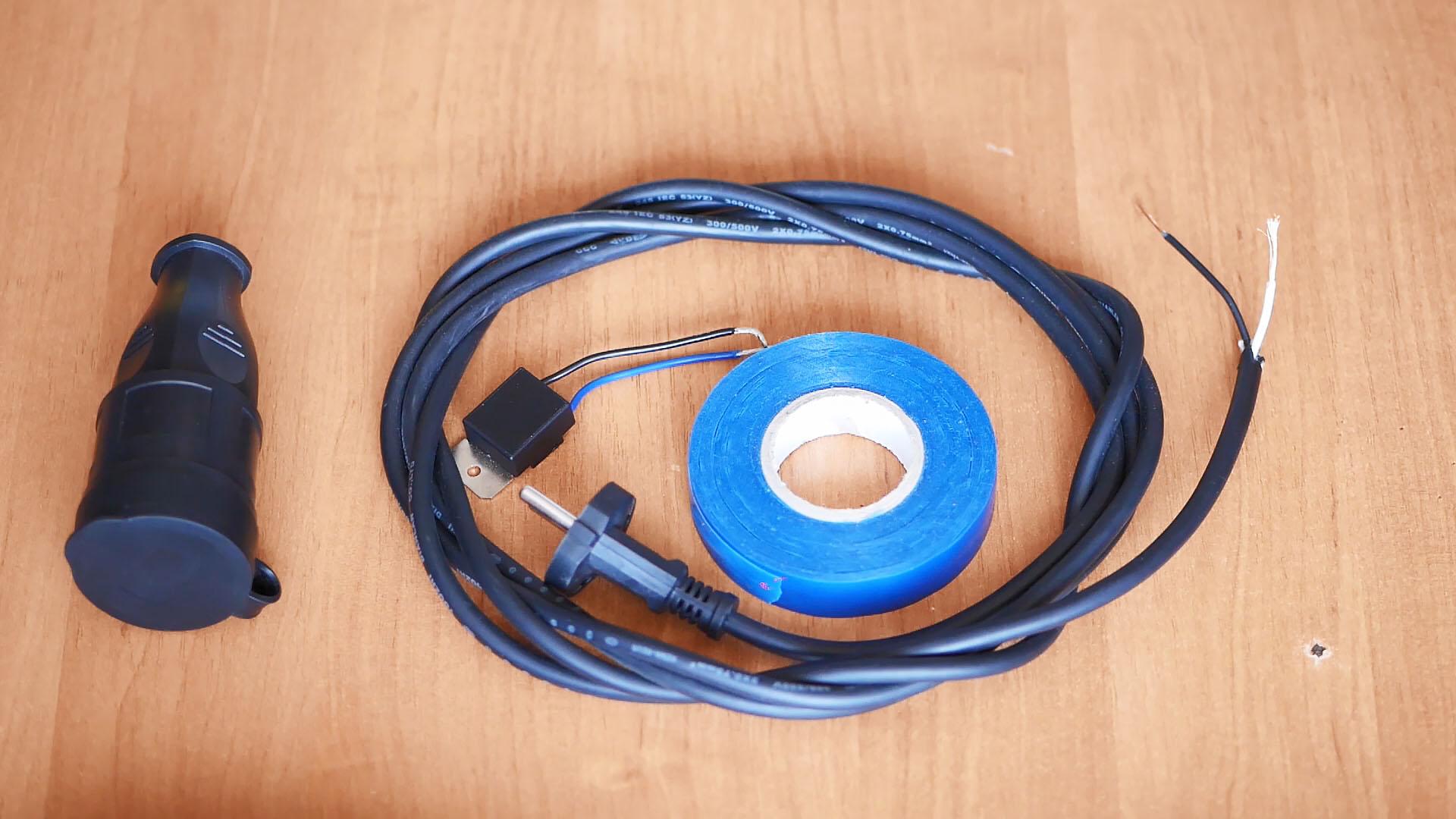 Как собрать простейший удлинитель с плавным пуском для электроинструмента