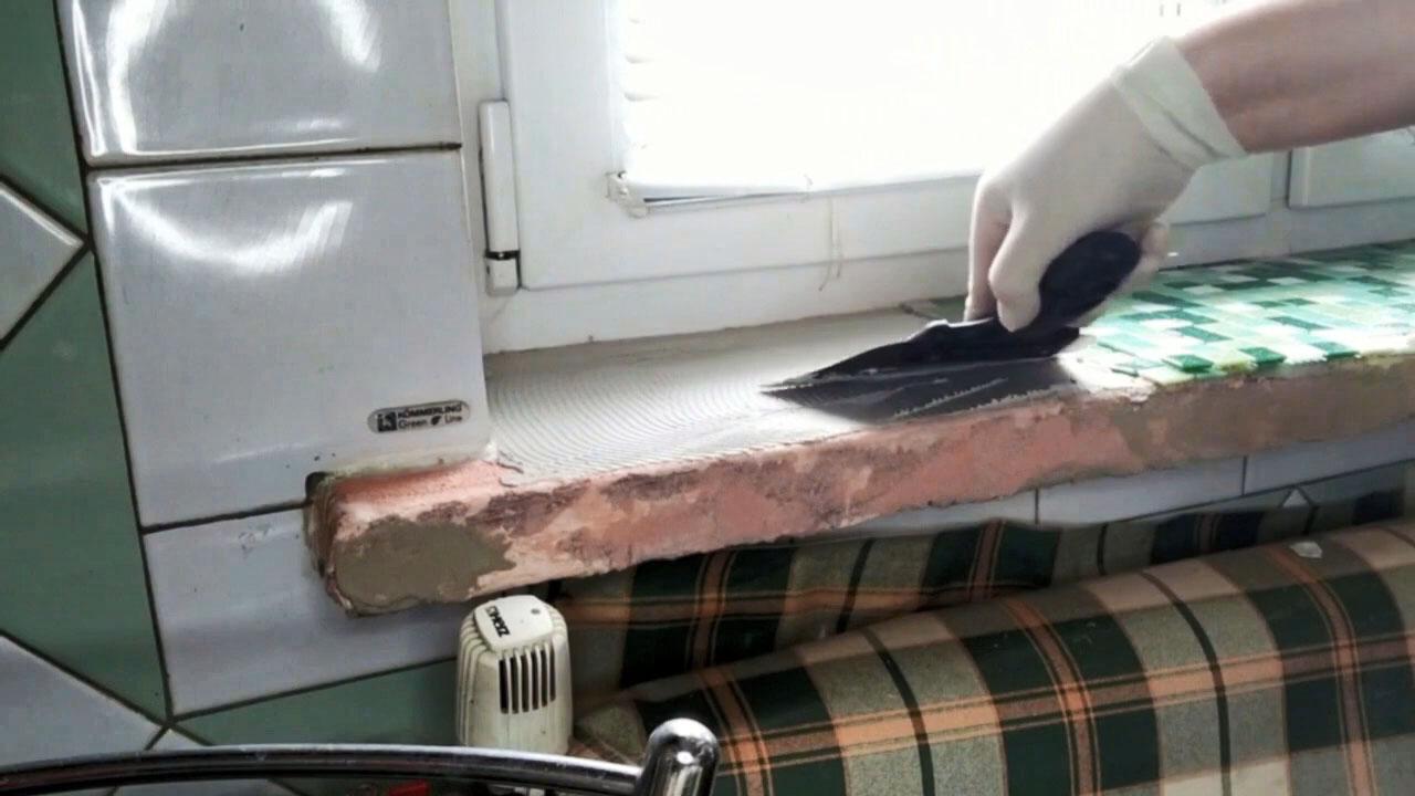 Как обновить старый подоконник без замены на новый