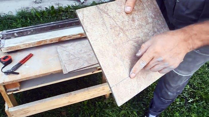 Как резать плитку болгаркой без сколов