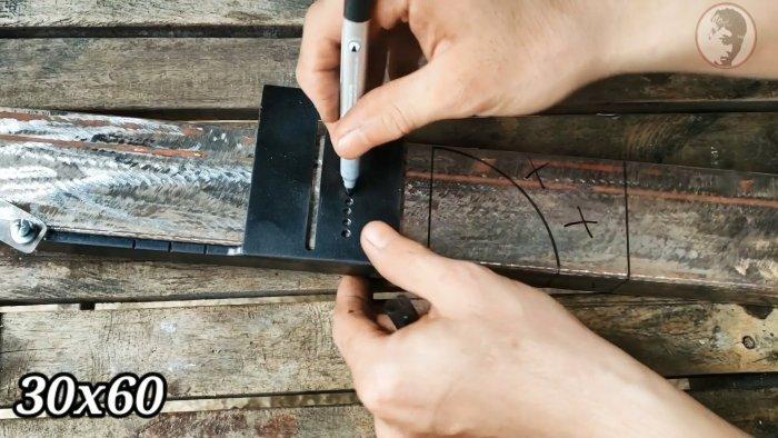 Как сделать инструмент для разметки плавного изгиба профильных труб