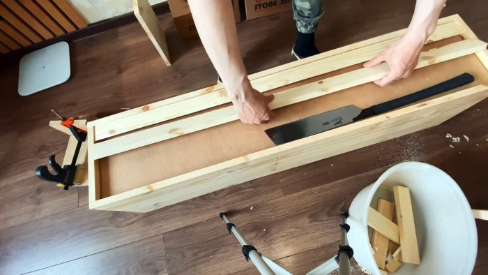 Как сделать подвесную тумбу для ТВ со скрытым креплением