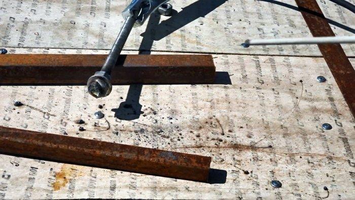 Как сделать простенькие тиски из металлолома