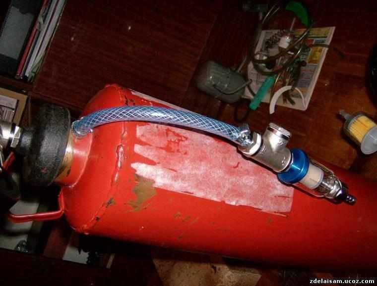 Ресивер для компрессора из огнетушителя своими руками