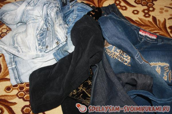 необыкновенная модель джинсов со швами с карманgirbaud