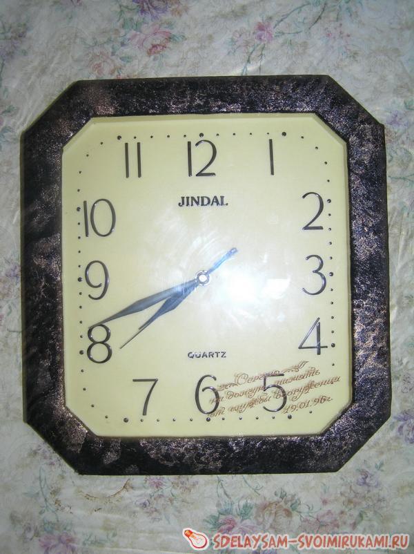 Часы своими руками фото из старых