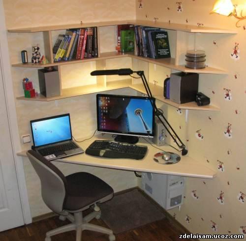 Своими руками компьютерные столы угловые