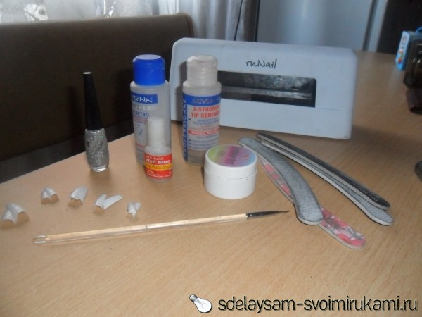 наращивание ногтей на типсах пошаговая инструкция с фото