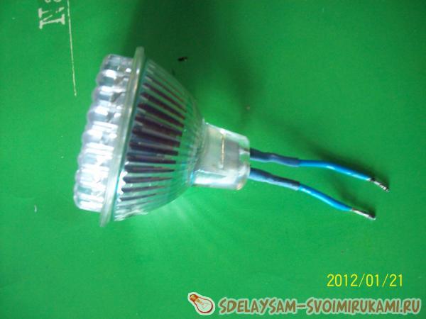 Светодиодная лампа из энергосберегающей своими руками из
