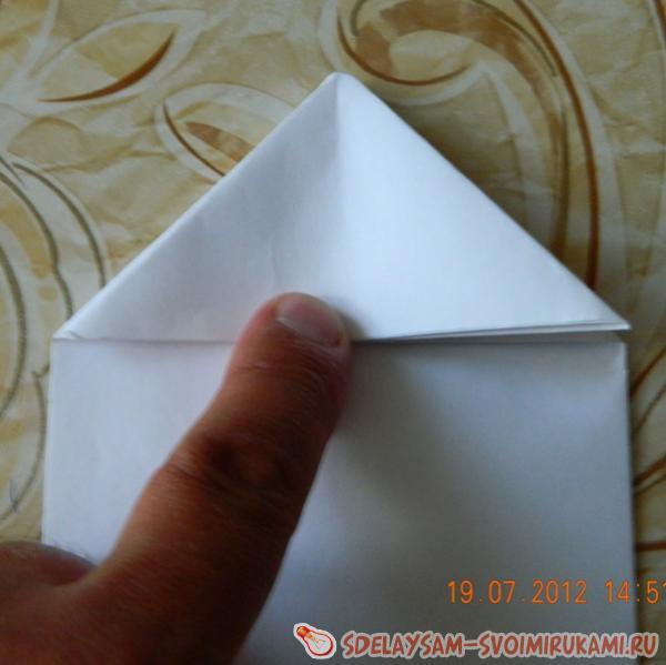 Объемный треугольник из бумаги фото