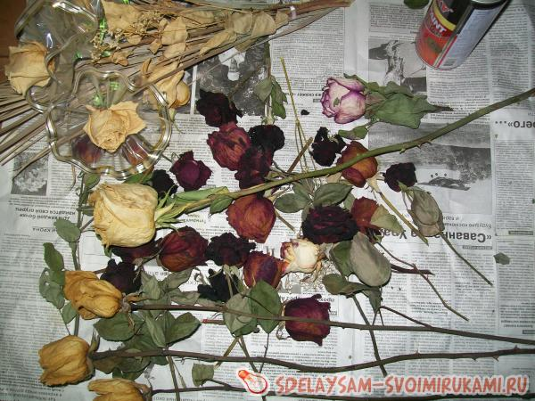 Декупаж сухие цветы