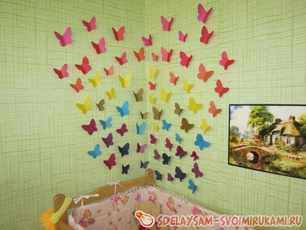 Оформление бабочками своими руками в детском саду