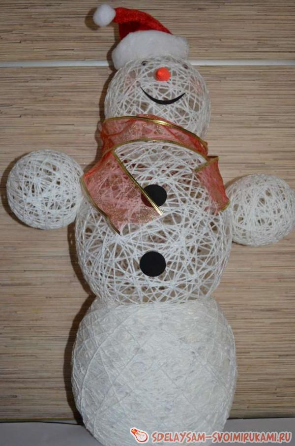 Поделка снеговик ниток - Праздник