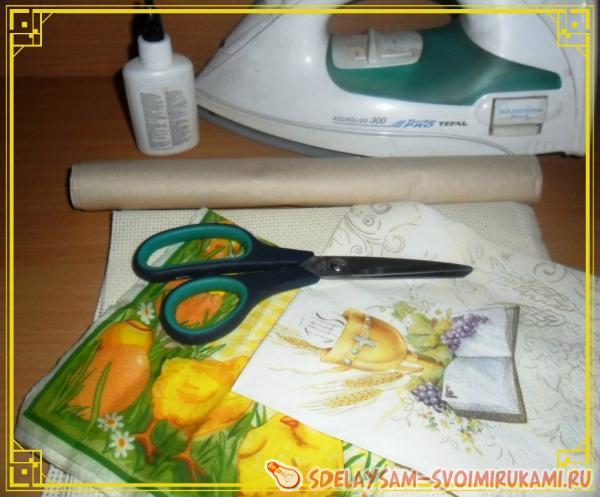 Шьем пасхальные салфетки мастер класс инструкция #6