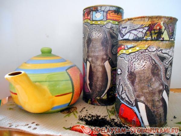 Баночка для чая в индийском стиле