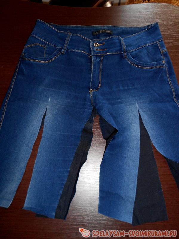 Как сделать их штанов юбку 763