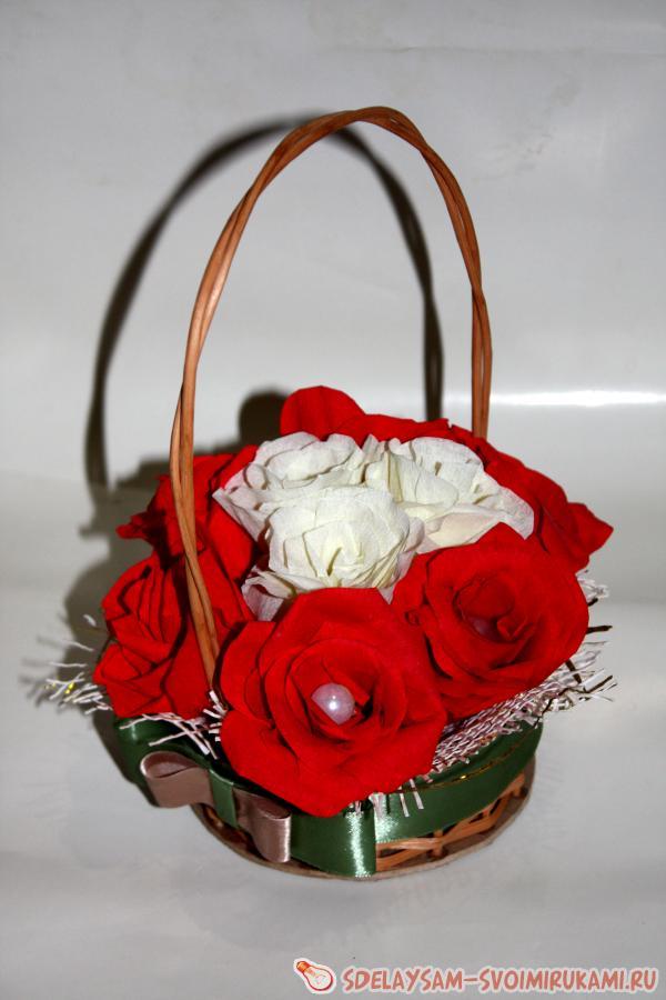 Мастер класс ленты корзинка с цветами