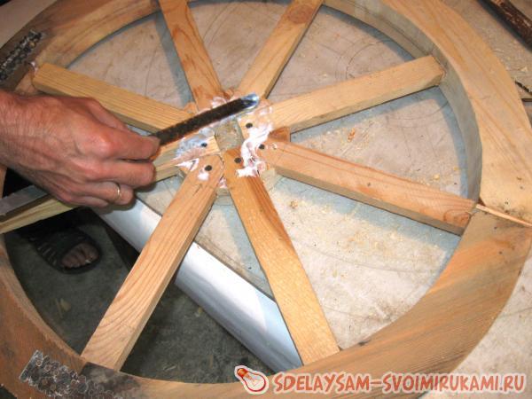 Как сделать деревянное колесо своими руками фото 59
