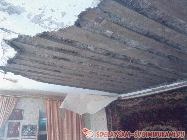 Мастер класс ремонта потолка