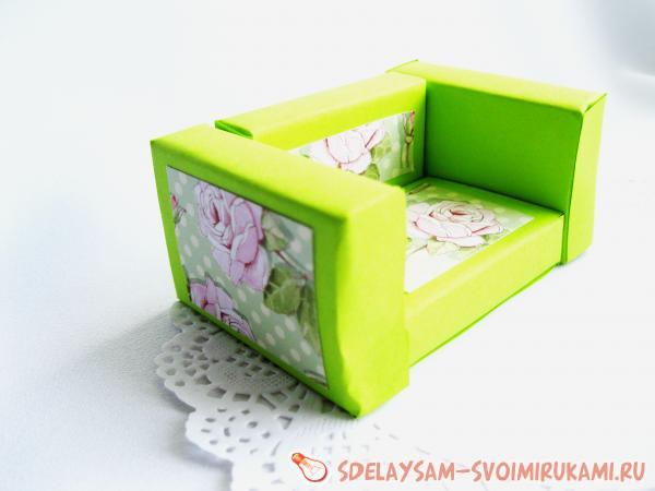 Труд изготовление кукольной мебели из спичечных коробков