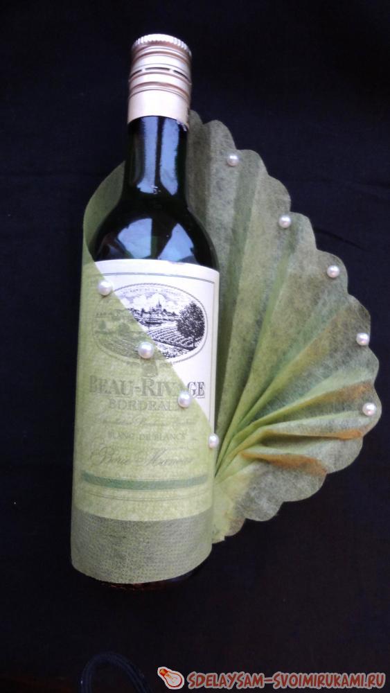 Украсить бутылку с вином своими руками 121