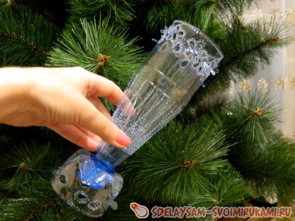 Поделки своими руками из пластиковой бутылки ваза