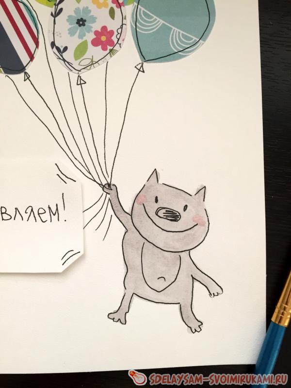 Нарисовать открытку маме на день рождения своими руками 19