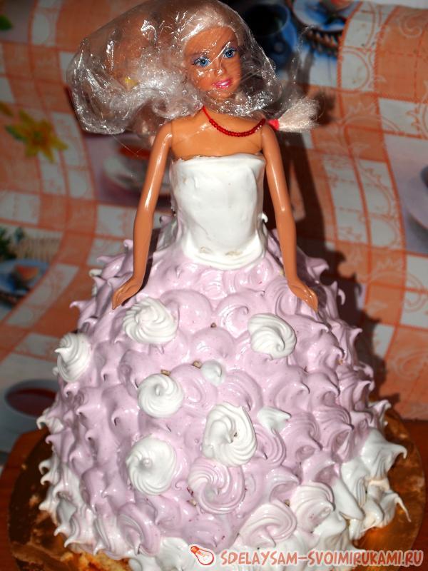 Кукла торт мастер класс